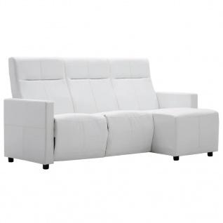 vidaXL Sofa L-förmig Verstellbar Kunstlederpolsterung Weiß