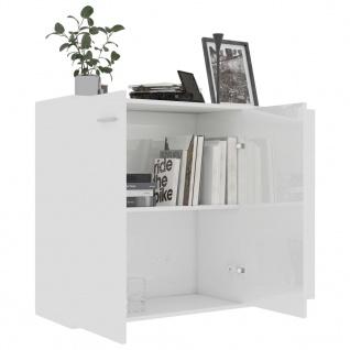 vidaXL Sideboard Hochglanz-Weiß 105 x 30 x 75 cm Spanplatte - Vorschau 4