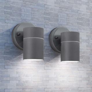 vidaXL LED Außenwandleuchten 2 Stk. Edelstahl Abwärtsstrahlend