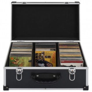 vidaXL CD-Koffer für 60 CDs Aluminium ABS Schwarz