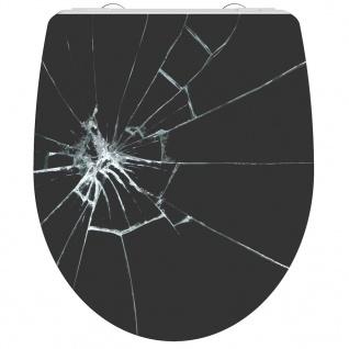SCHÜTTE Toilettensitz BROKEN GLASS Absenkautomatik Duroplast Hochglanz