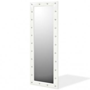 vidaXL Wandspiegel Kunstleder 50 x 140 cm Glänzendes Weiß