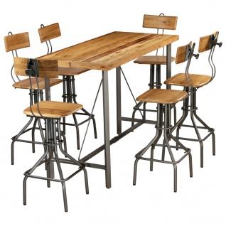vidaXL Bar-Set 7-tlg. Recyceltes Massivholz Teak