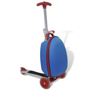 vidaXL Roller mit Trolley-Koffer für Kinder Blau