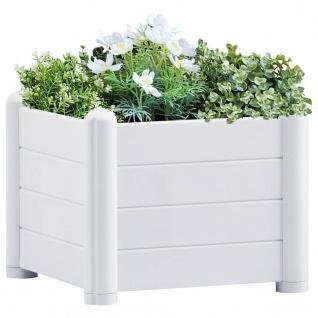 vidaXL Garten-Hochbeet PP Weiß 43x43x35 cm