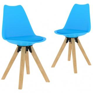 vidaXL Esszimmerstühle 2 Stk. Blau