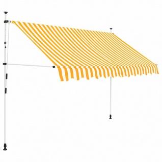 vidaXL Einziehbare Markise Handbetrieben 300 cm Gelb/Weiß Gestreift - Vorschau 1