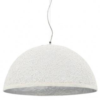 vidaXL Pendelleuchte Weiß und Silbern Ø50 cm E27