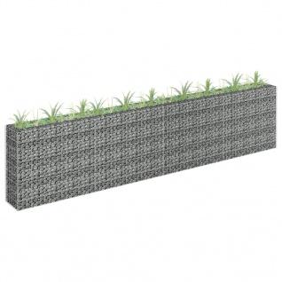 vidaXL Gabionen-Hochbeet Verzinkter Stahl 360×30×90 cm