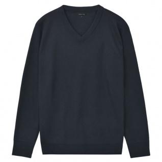 vidaXL Herren Pullover Sweater V-Ausschnitt Marineblau L