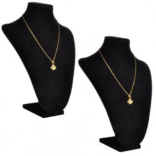 2x Samt Schmuckständer Halskette Ketten-Halter Präsentation
