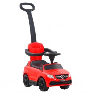 vidaXL Kinder-Aufsitzauto mit Schiebstange Mercedes Benz GLE63 Rot