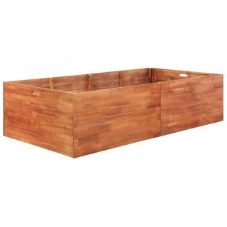 vidaXL Garten-Hochbeet Akazienholz 200x100x50 cm