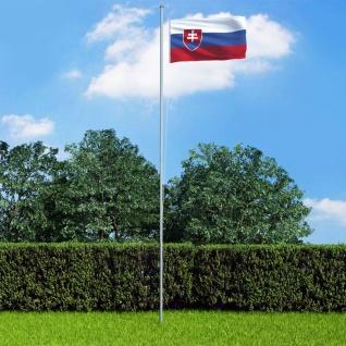 vidaXL Flagge der Slowakei und Mast Aluminium 6, 2 m
