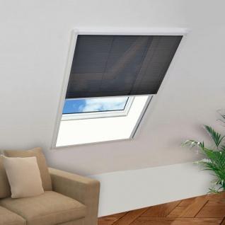 vidaXL Plisse Insektenschutz-Fenster 110×160 cm
