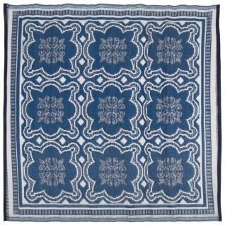 Esschert Design Außenteppich 151, 5 cm Blau und Weiß OC23