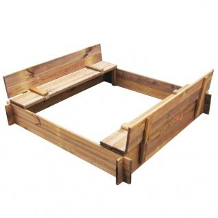 vidaXL Sandkasten imprägnierter Holz Quadratisch