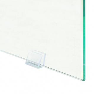 vidaXL Beistelltisch MDF und Glas 45 x 45 x 45 Eichenoptik - Vorschau 5