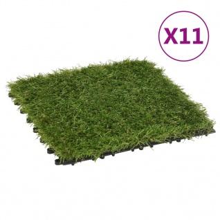 vidaXL Kunstrasen-Fliesen 11 Stk. Grün 30x30 cm
