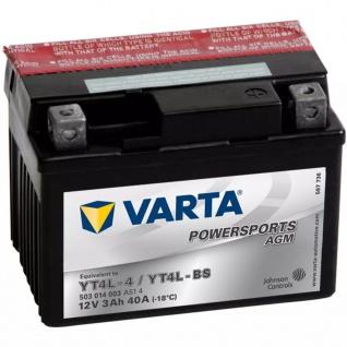 VARTA Powersports Motorradbatterie AGM YT4L-4 / YT4L-BS