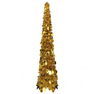 vidaXL Pop-Up Künstlicher Weihnachtsbaum Golden 129 cm PET