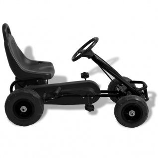 vidaXL Pedal Go-Kart mit Luftreifen Schwarz - Vorschau 2