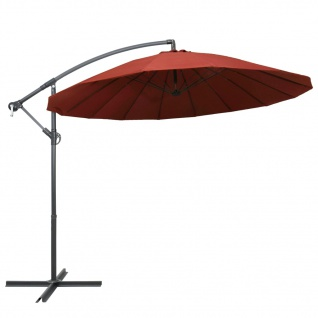 vidaXL Ampelschirm Terracotta-Rot 3 m Aluminium-Mast