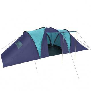 vidaXL Campingzelt 9 Personen Stoff Blau/Dunkelblau