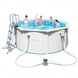 Bestway Pool-Set Jersey Rund Grau 300cm 56563