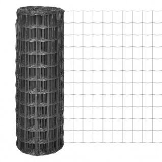 vidaXL Eurozaun Stahl 25 x 1, 7 m Grau