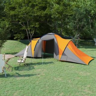 vidaXL Campingzelt 6 Personen Grau und Orange