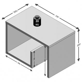 FMD Couchtisch 2-in-1 59 x 36 x 38 cm Eiche-Dekor 632-001 - Vorschau 4