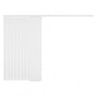 vidaXL Vertikale Jalousien Weiß Stoff 120x180 cm - Vorschau 5