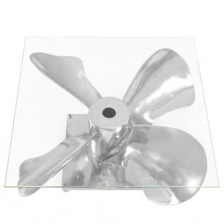vidaXL Couchtisch Silbern 60x60x30 cm Aluminium und Gehärtetes Glas - Vorschau 4
