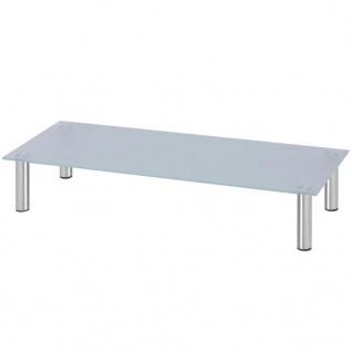 vidaxl monitoraufsatz tv tisch 100x35x17 cm glas wei kaufen bei vida xl europe b v. Black Bedroom Furniture Sets. Home Design Ideas