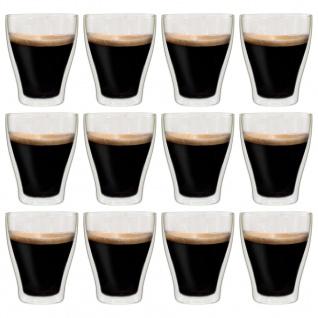 vidaXL Doppelwandige Latte-Macchiato-Gläser 12 Stk. 370 ml