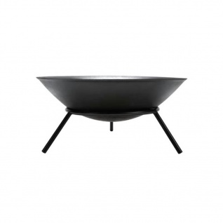 Perel Feuerschale 56x26 cm Schwarz