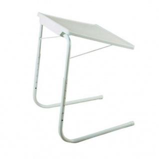 MESA LIVING Verstellbarer Klapptisch Tavolino Weiß