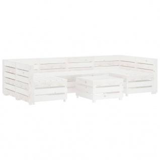 vidaXL 7-tlg. Garten-Lounge-Set aus Paletten Holz Weiß