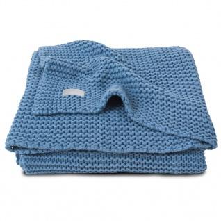 Jollein Babydecke Grobstrick 100x150 cm Blau 516-522-65087