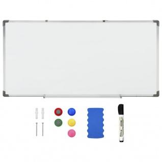 vidaXL Magnetisches Whiteboard Weiß 120 x 60 cm Stahl