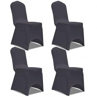 vidaXL Stretch Stuhlbezug 4 Stück Anthrazit