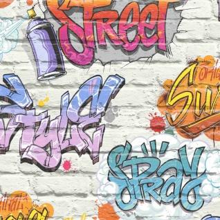 DUTCH WALLCOVERINGS Tapete Graffiti Mehrfarbig L179-05