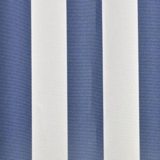 vidaXL Markisenstoff Sonnenschutz Blau & Weiß 3×2, 5 m (ohne Rahmen) - Vorschau 3