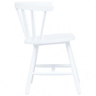 vidaXL Esszimmerstühle 2 Stk. Weiß Gummiholz Massiv - Vorschau 4