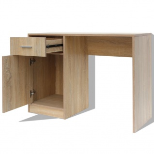 vidaXL Schreibtisch mit Schublade und Schrank Eiche 100x40x73 cm - Vorschau 5