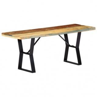 vidaXL Sitzbank 110 cm Recyceltes Massivholz