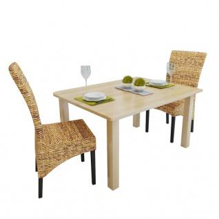 vidaXL Esszimmerstühle 2 Stk. Abaca und Mango Massivholz