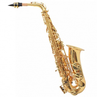 vidaXL Alt-Saxophon Gelb Messing mit Goldlack Eb