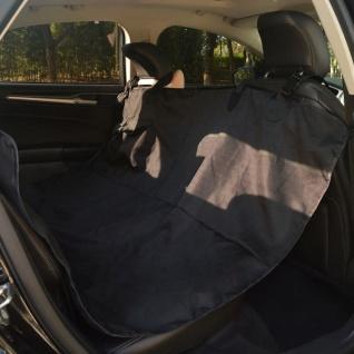 vidaXL Haustier-Rücksitzbezug 148 x 142 cm Schwarz